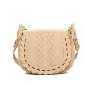 🆕 Lucky Brand leather whipstitch crossbody bag